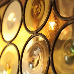 ロンデルのガラスとアンティークガラスのステンドグラス